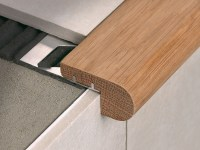 Stair nosing in Oak wood with aluminium support STAIRTEC ...