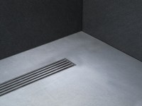 FLUSH FITTING STAINLESS STEEL SHOWER TRAY LINEAR DRAIN ...