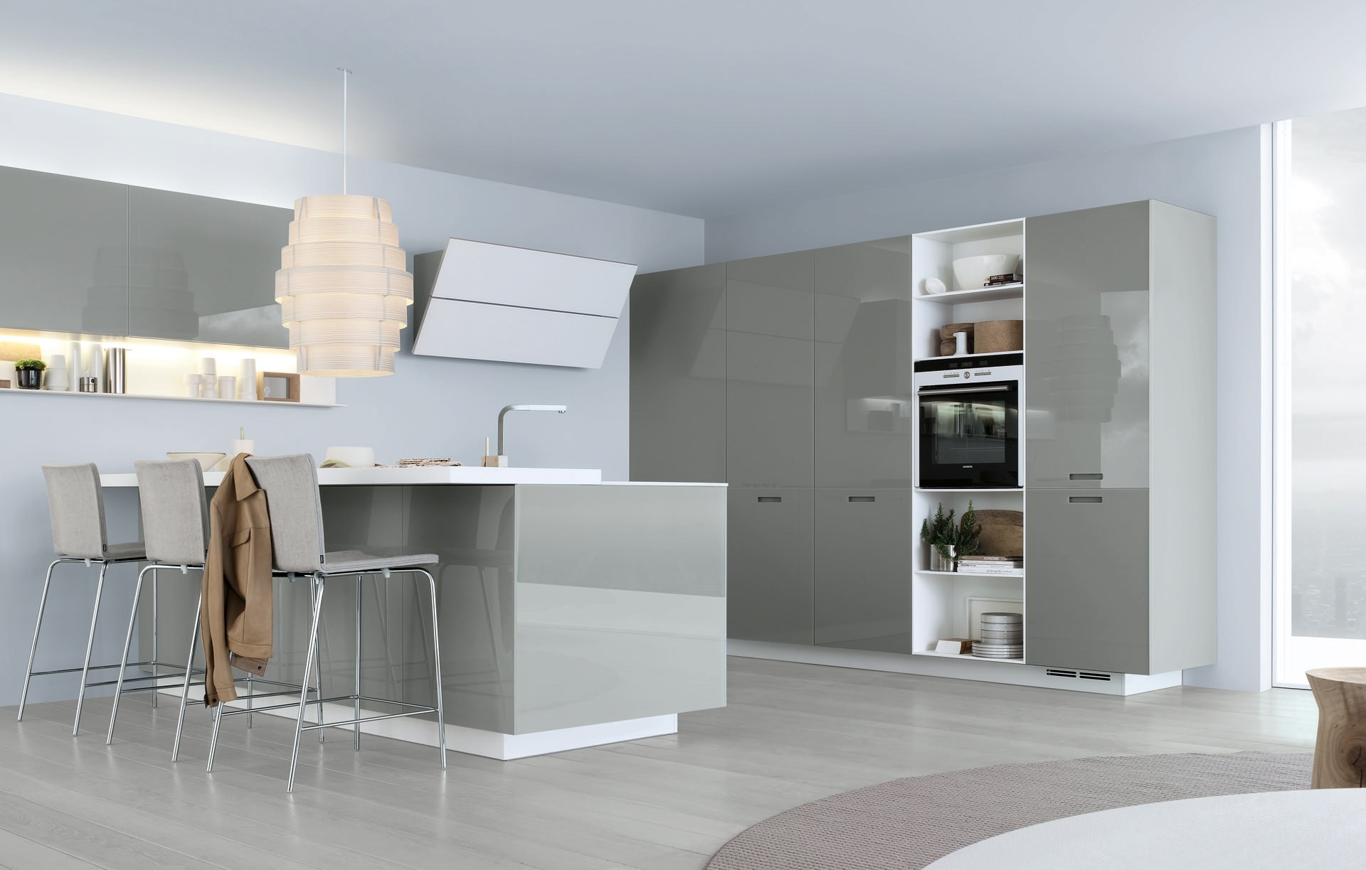 Ikea Küche Cad Lacquered Linear Wooden Kitchen Kyton By Varenna By Poliform