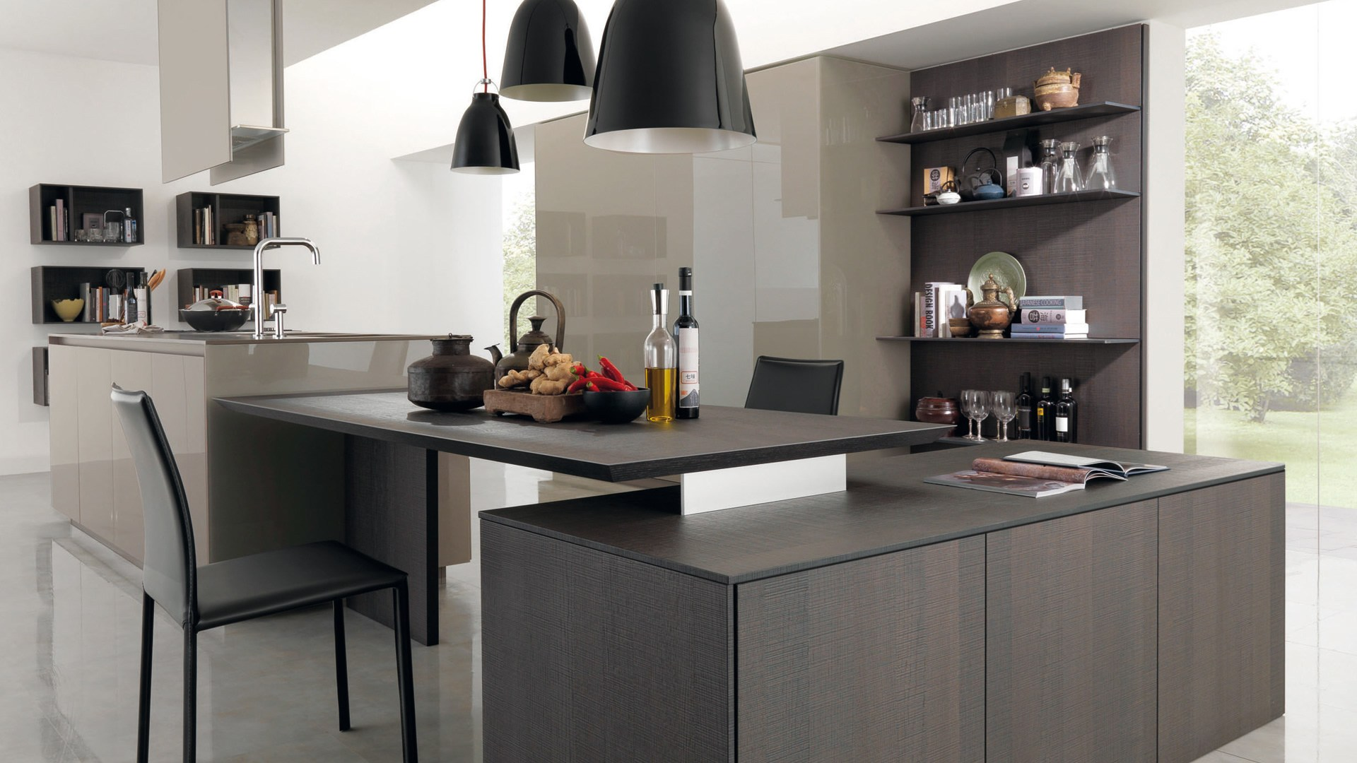 Cocina Integral Wooden Fitted Kitchen Kubic 4 By Euromobil Design Roberto