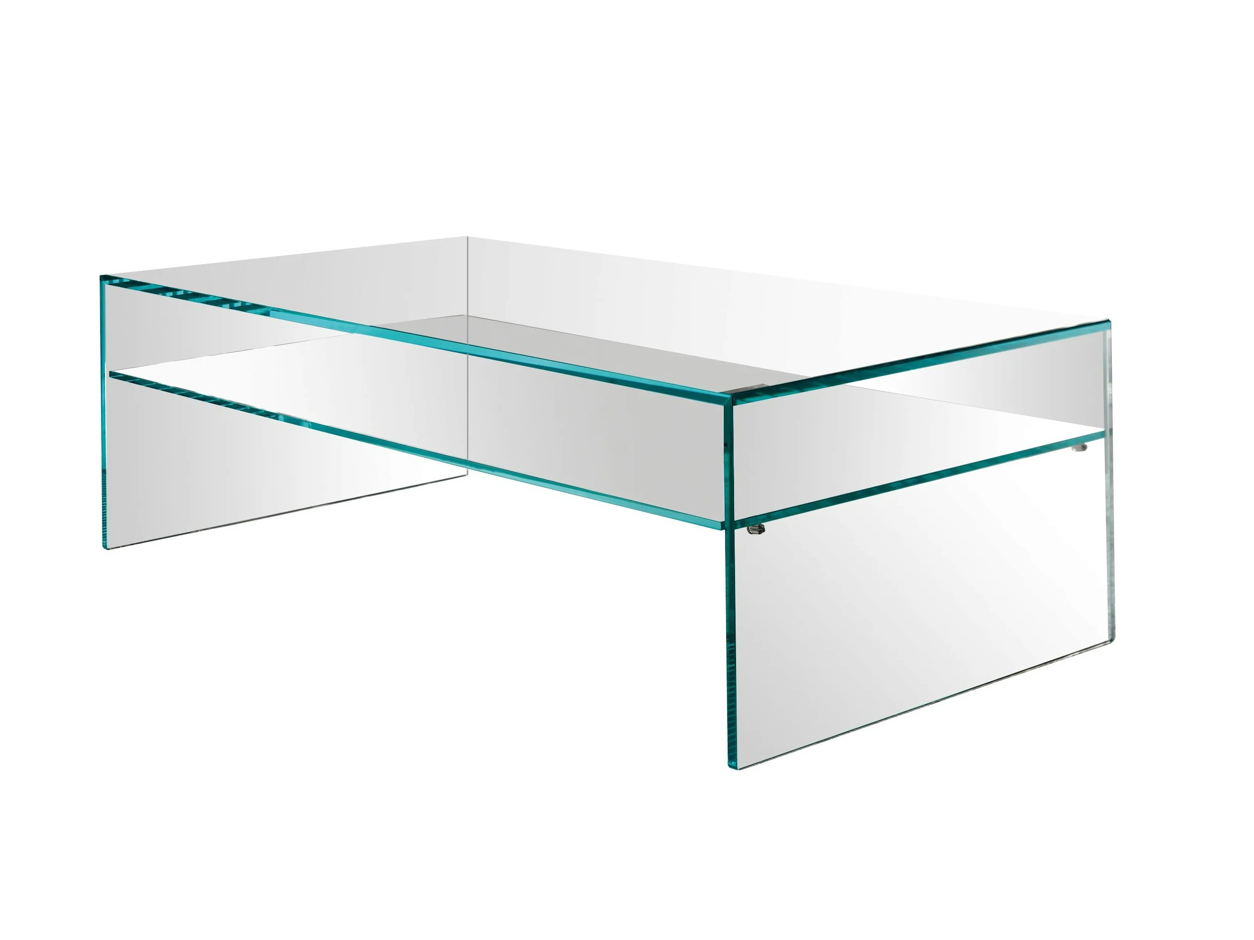 Glas Couchtisch Rechteckig Rectangular Glass Coffee Table Fratina Due By T.d. Tonelli