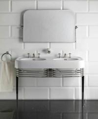 Double console sink WIDE BLUES by Devon&Devon