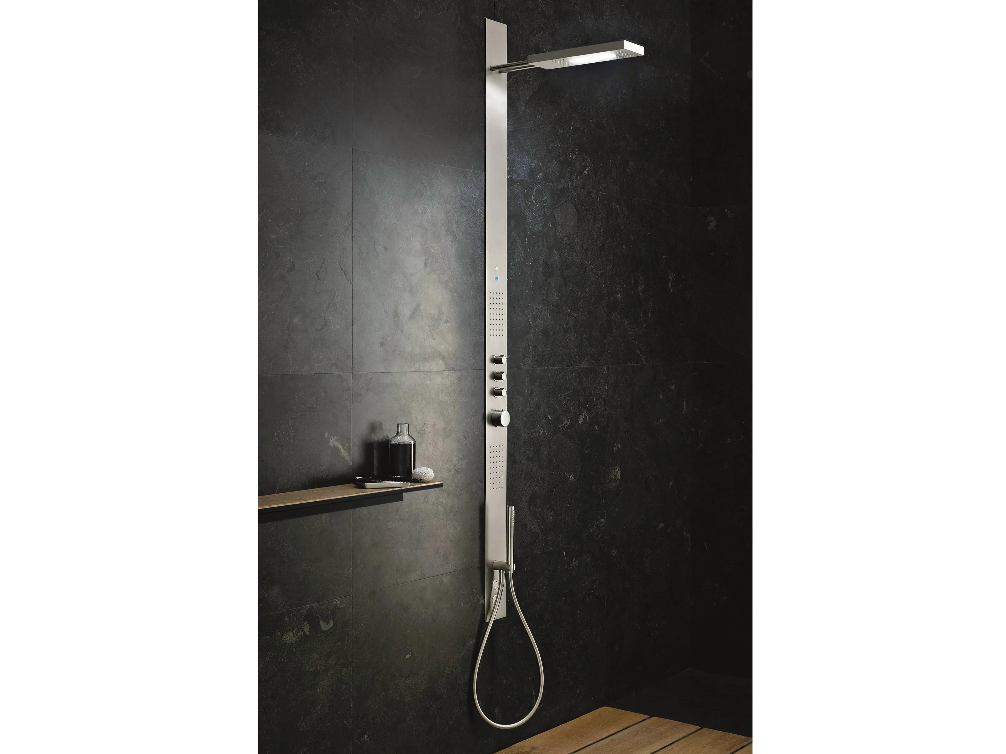Colonna doccia termostatica obliqua colonna doccia a parete by