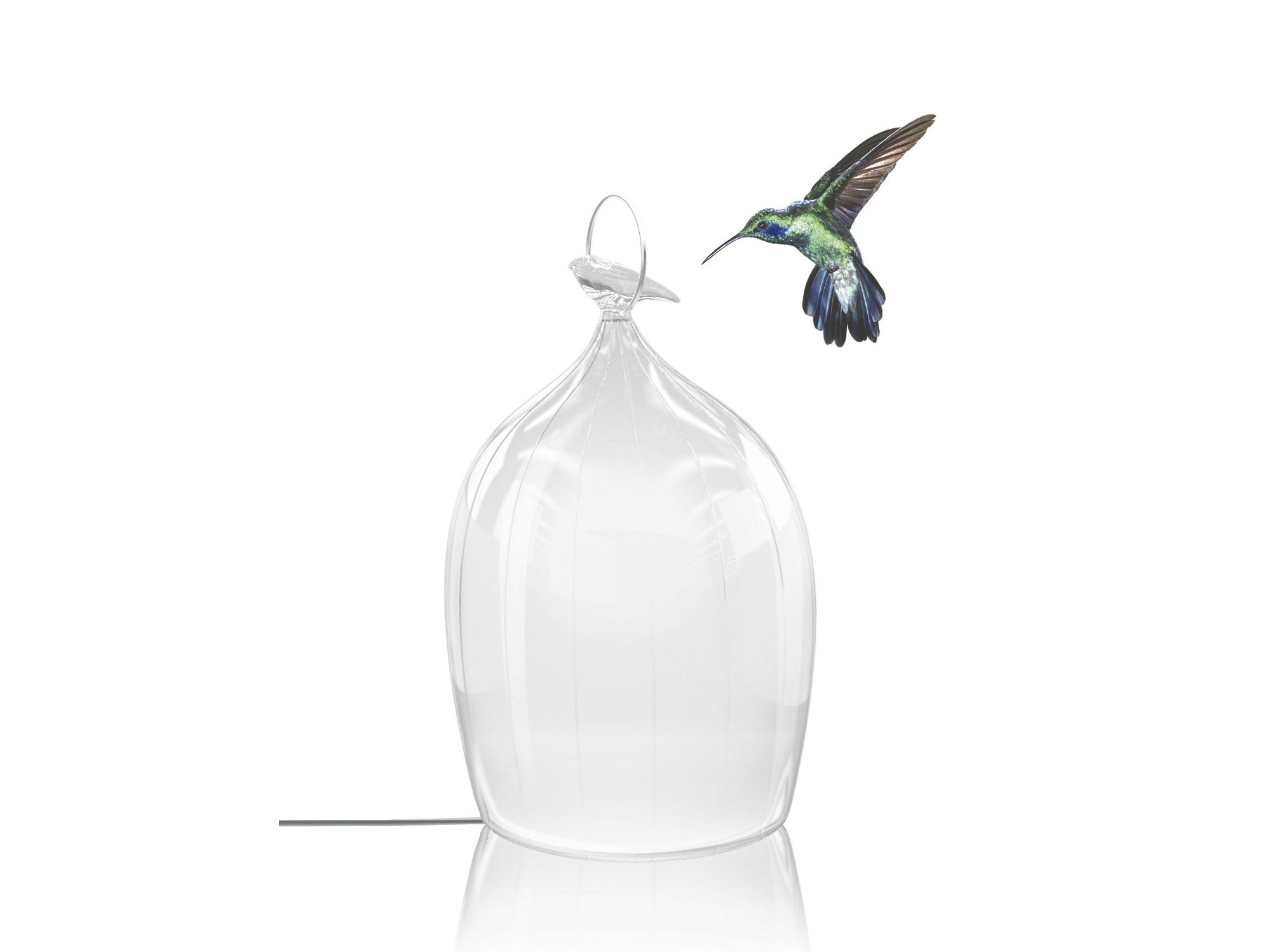 Beau Verre Lampe De Table En Verre Smoon Cage Glass By Beau And Bien
