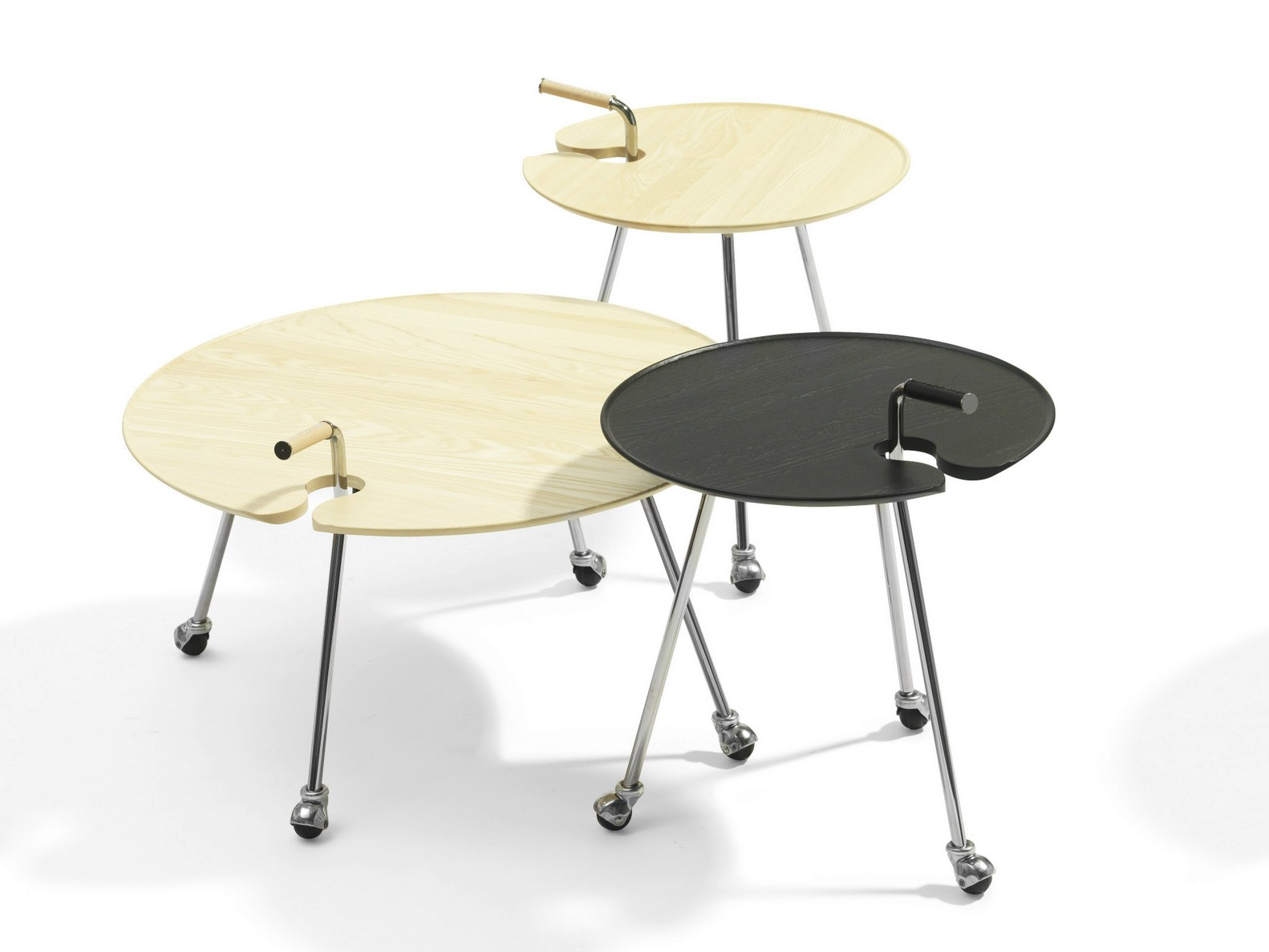 Round Coffee Table On Wheels Round Coffee Table With Casters Pond By Blå Station Design