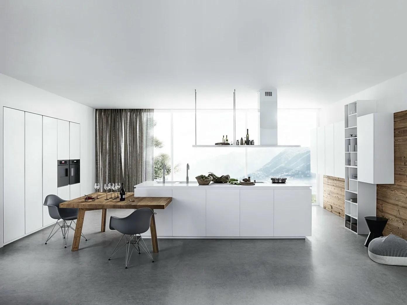 Weiße Küche Ohne Griffe   Hochglanz Küche Weiß Interieur ...
