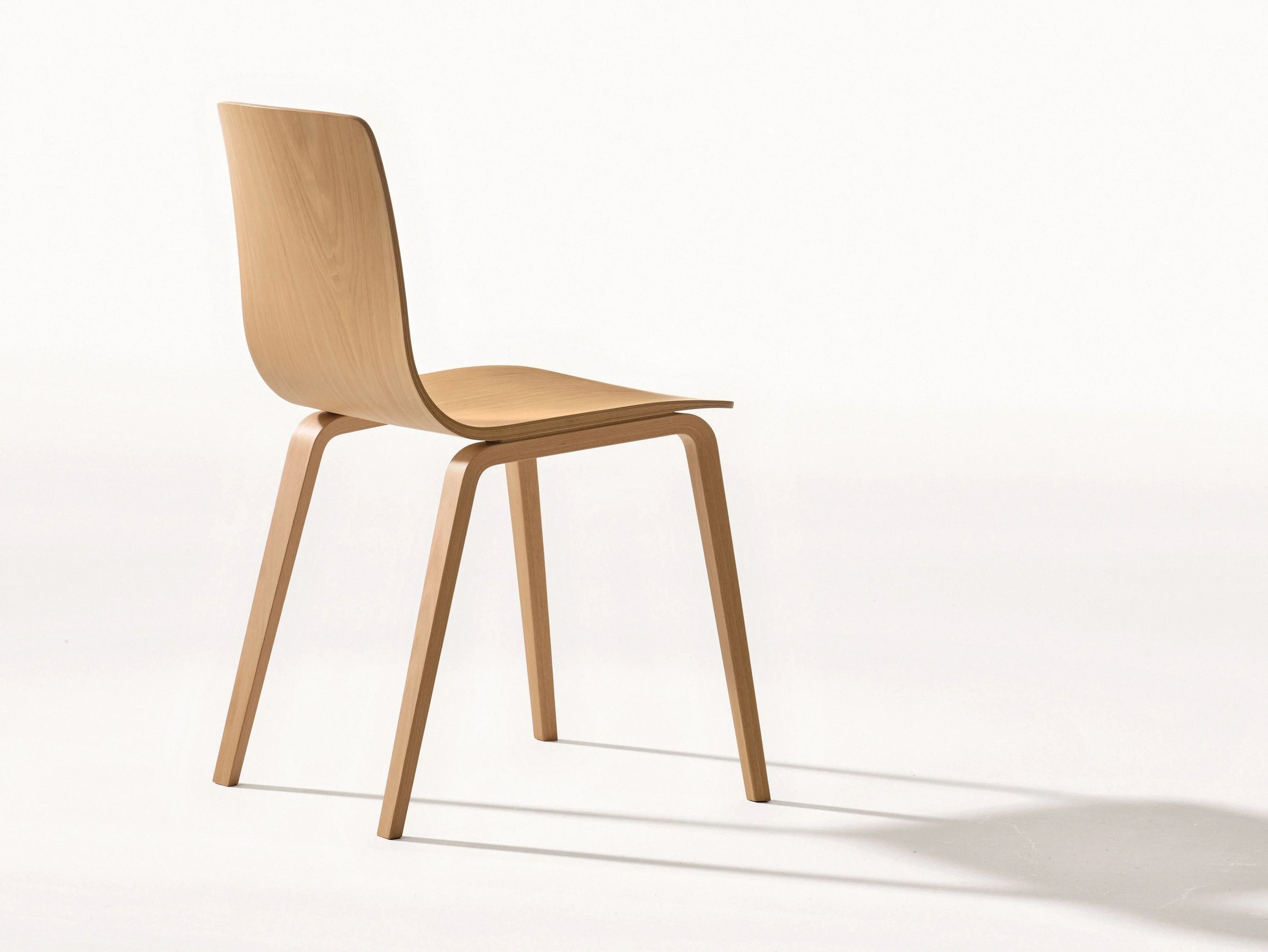 Chair Wooden Stackable Wooden Chair Aava Collection By Arper Design