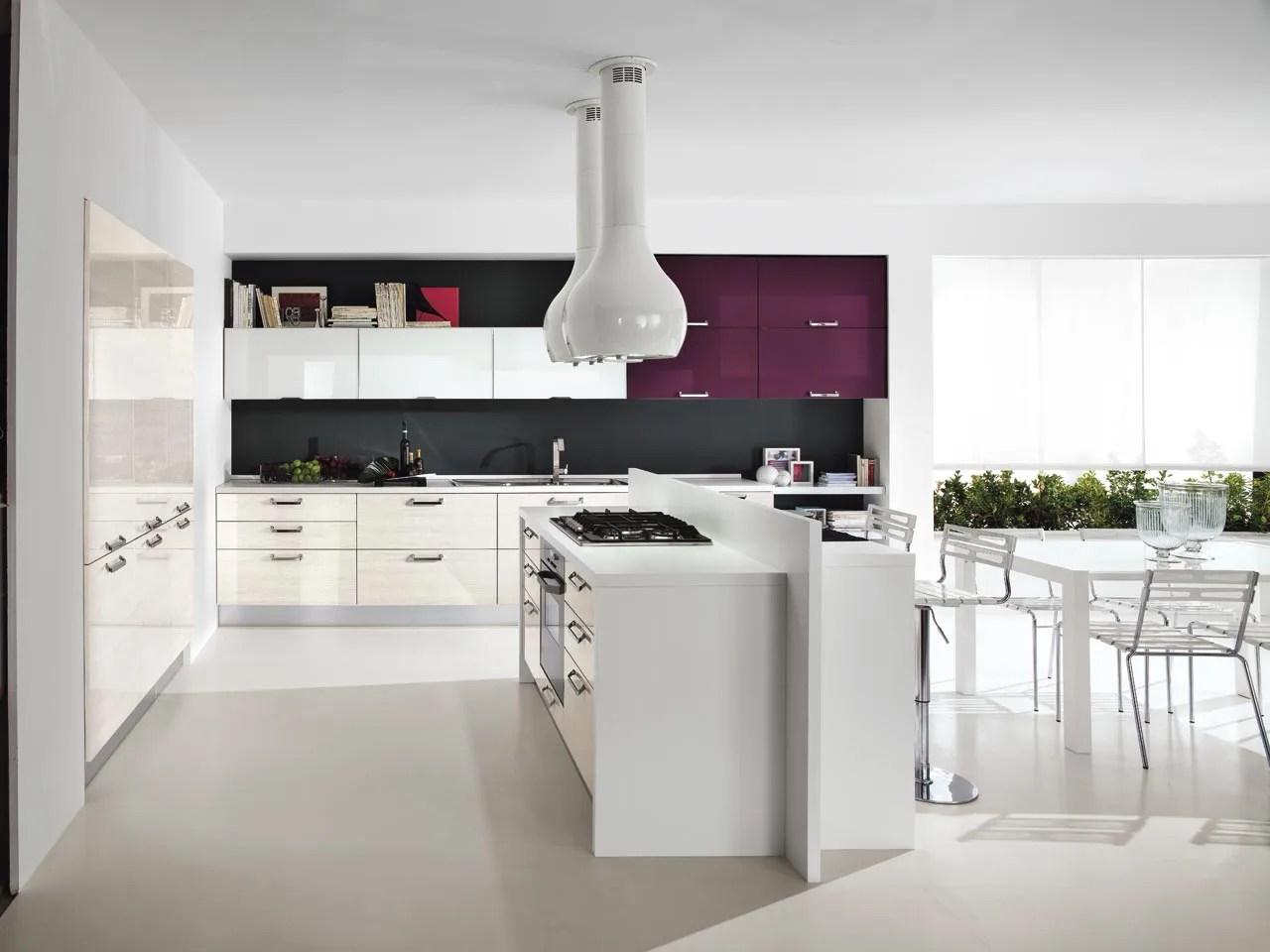 Cucina Moderna Con Isola E Tavolo | Cucine Con Isola Prezzi Cucina ...