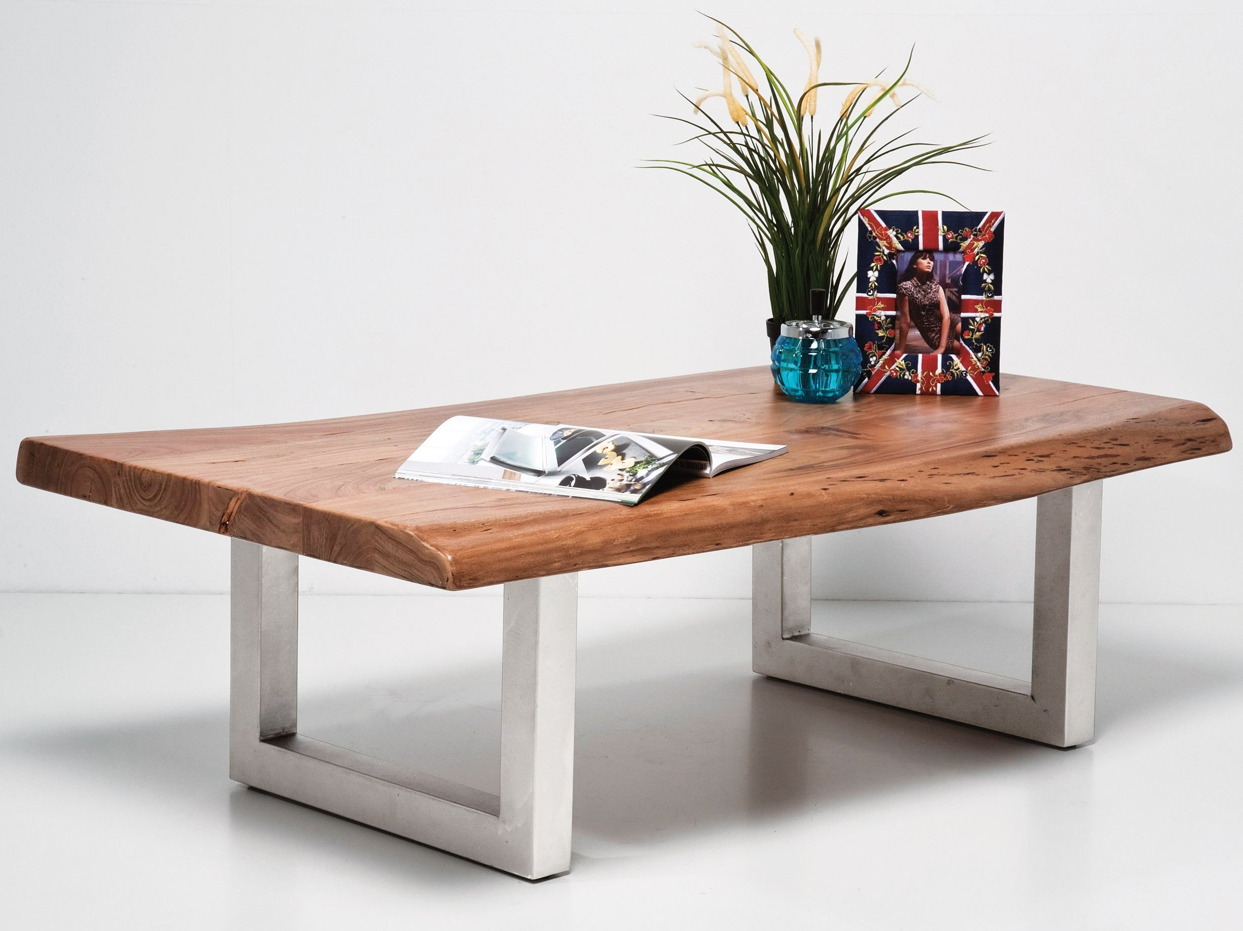 Musik Couchtisch Rectangular Wooden Coffee Table Nature Line By Kare-design