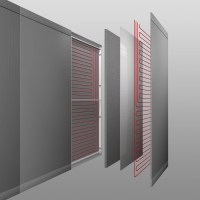Radiant wall panel RADIANT WALL by FANTONI