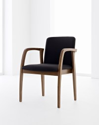 Stackable wooden chair with armrests ULISSE by Passoni ...