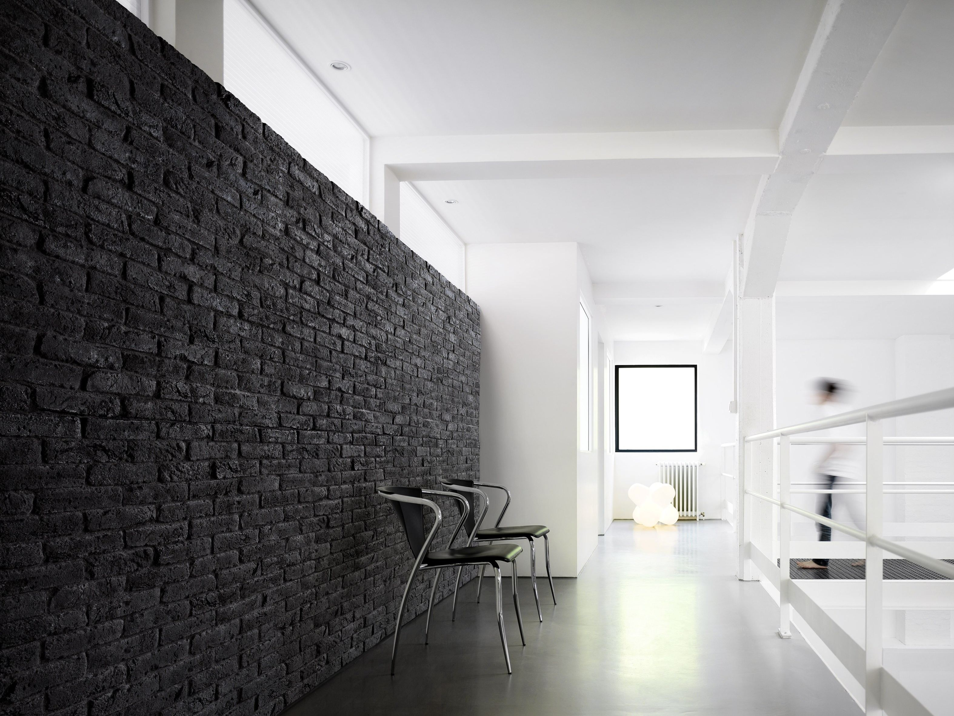 Orsol Brique Reconstructed Stone Wall Tiles Brique Black & White By Orsol