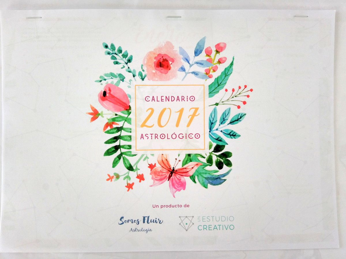 Escorpio 2017 Mes A Mes Calendario Astrológico A3 Lunas 2017 Fluircreativo Elo7