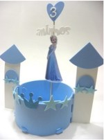 Enfeite De Mesa Frozen Disney Castelo Frozen