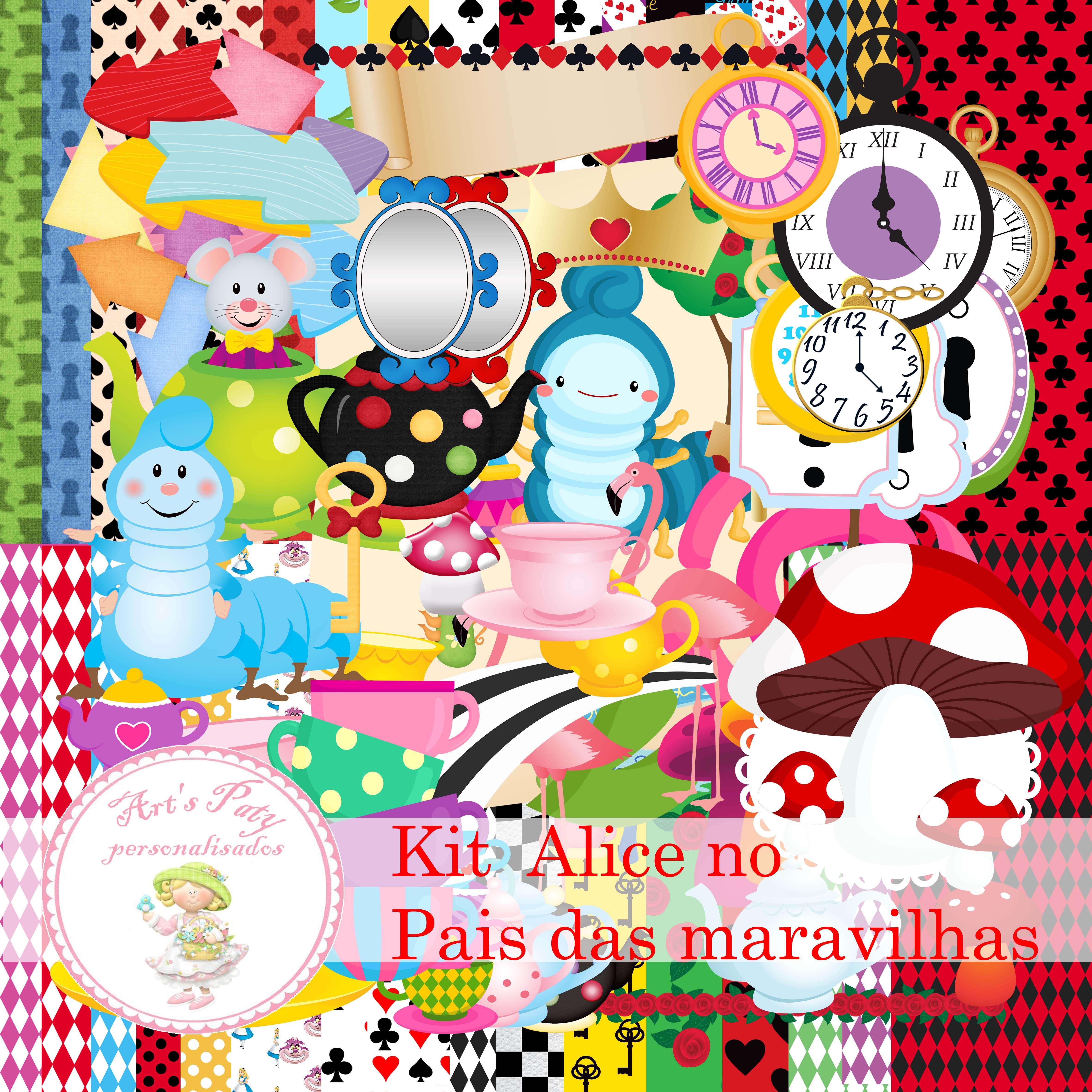 Natal Wallpaper 3d Kit Digital Alice No Pais Das Maravilhas Arts Paty