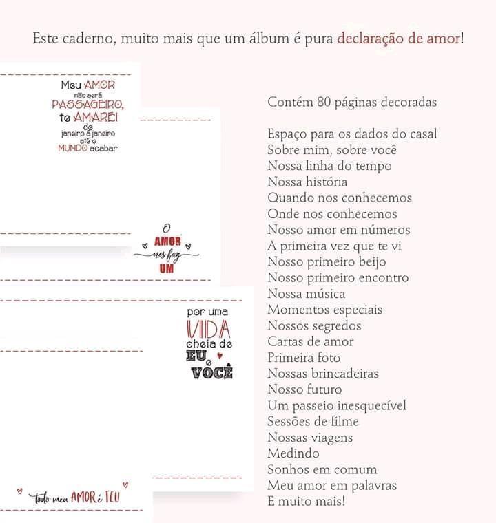Caderno dia dos namorados no Elo7 Dona Maricota Papel e Amor (E9A879)