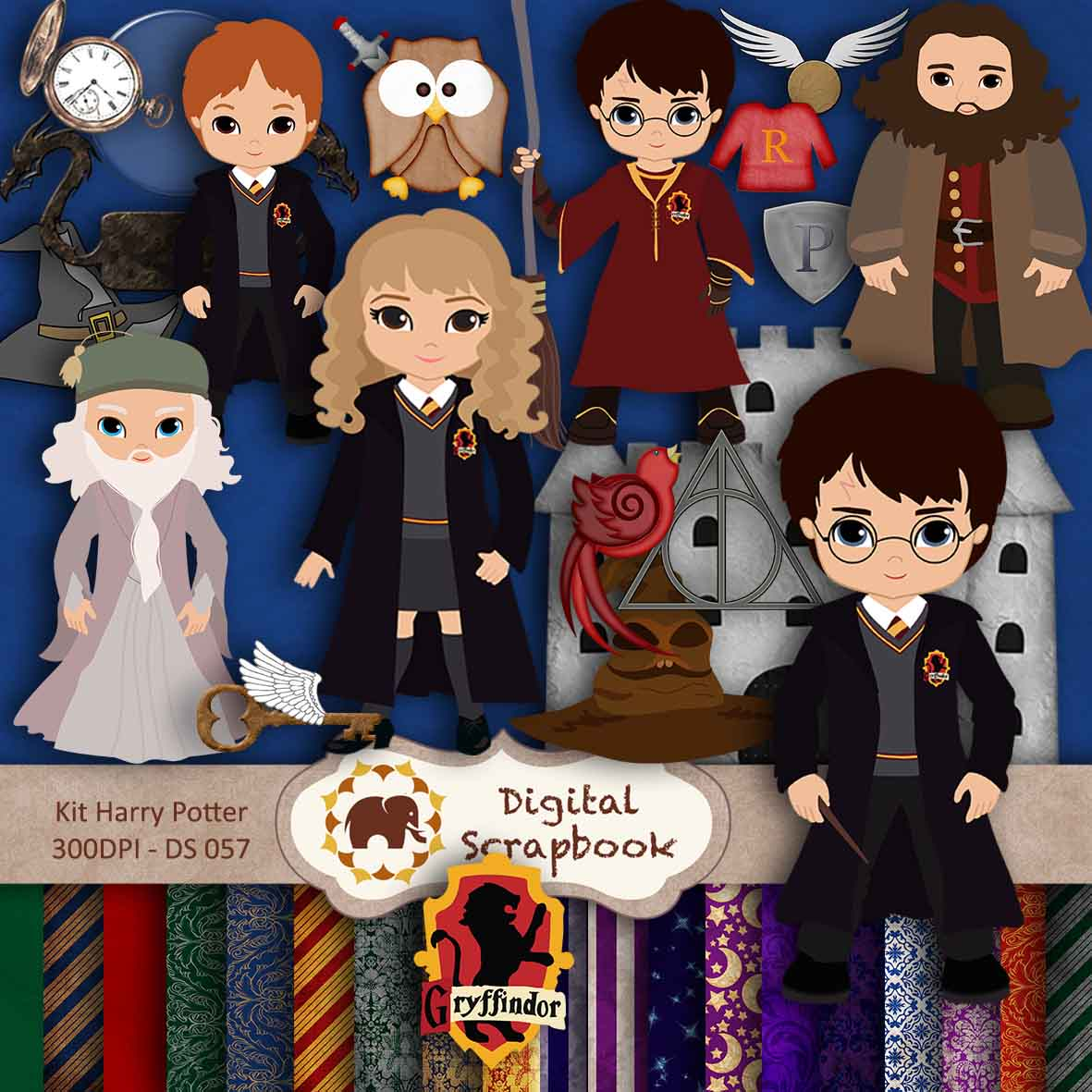 Cute Animated Dolls Wallpapers Kit Scrapbook Digital Harry Potter Digital Scrapbook