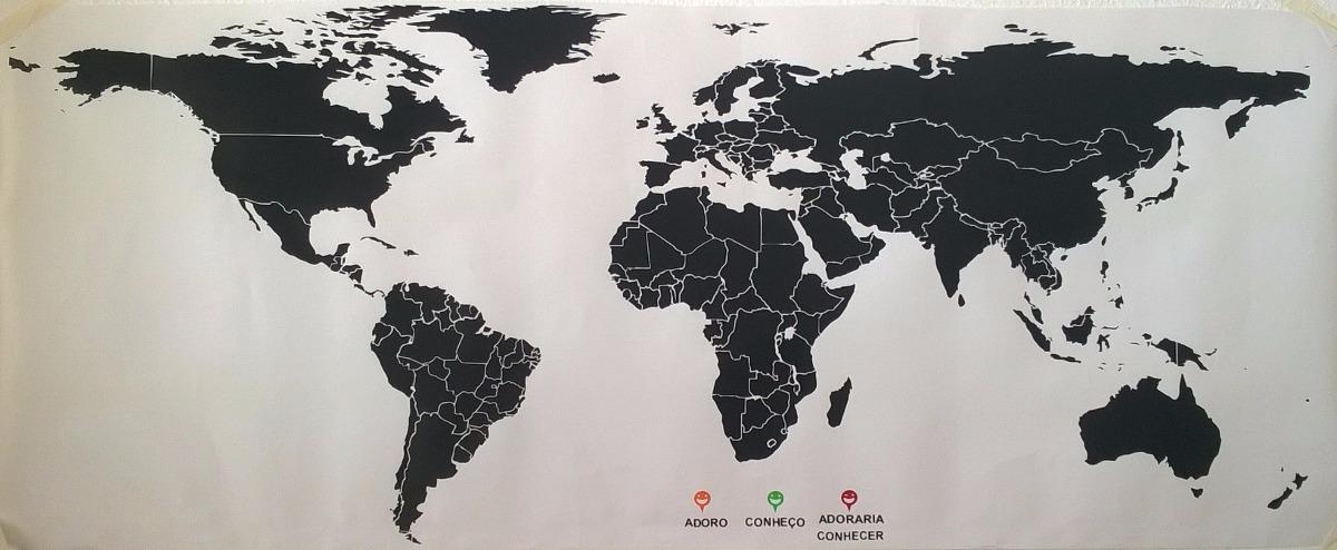 3d World Map Wallpaper For Pc Adesivo De Parede Mapa Mundi Adesivos Sempre Viva Elo7