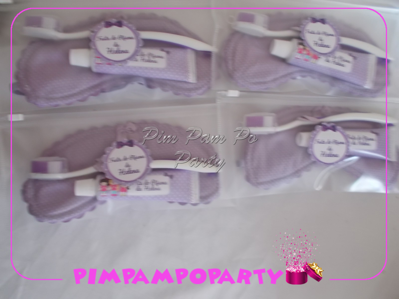 Aparato Dental Para Dormir Lembrancinha Festa Do Pijama Kit Higiene Pimpampoparty