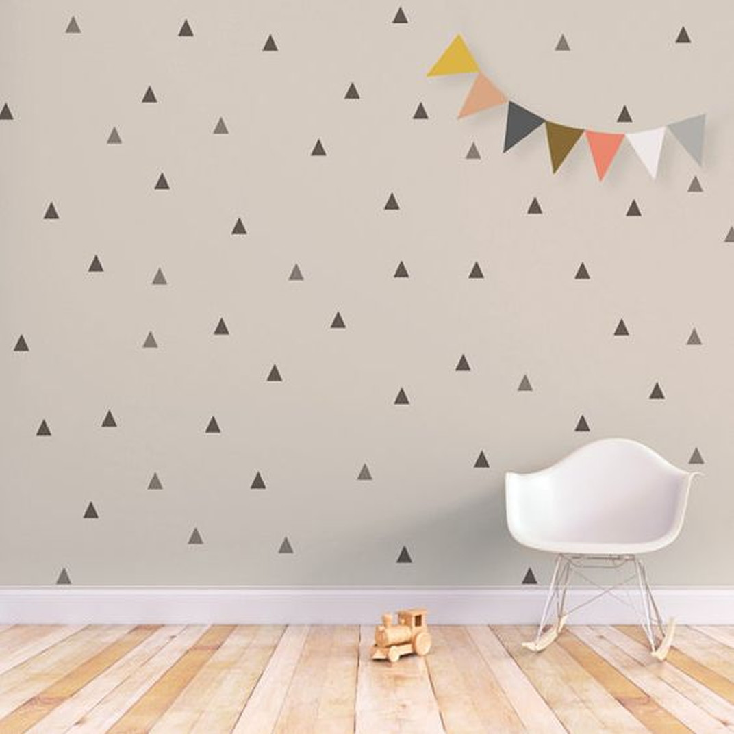 Newborn Baby Girl Wallpaper Adesivo Triangulo Cinza E Preto No Elo7 Ideiative Design