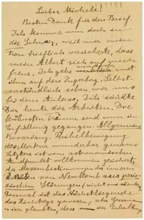 albert einstein Albert Einstein\u0027s letter to close friend on