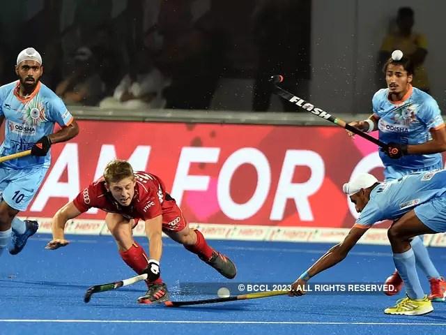 Belgium men\u0027s national field hockey team Spirited India play out 2