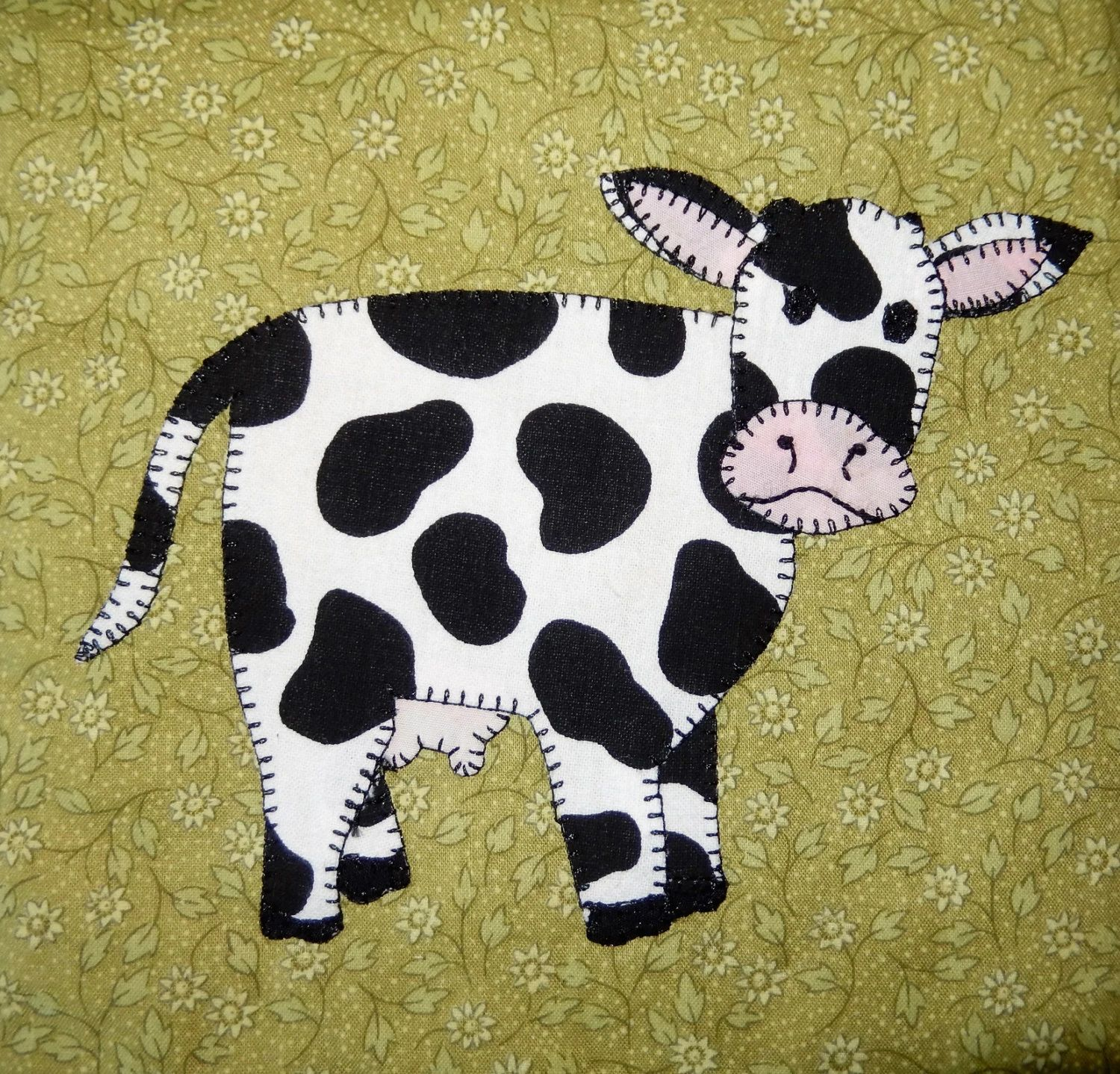printable cow pattern