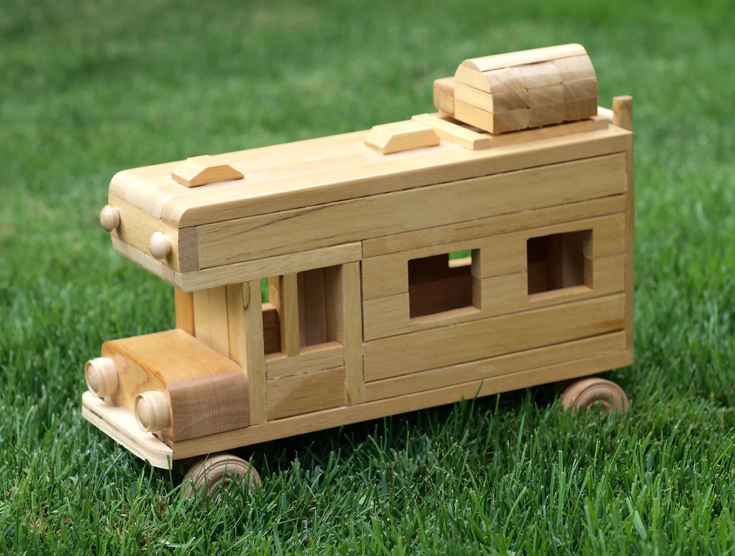 Eco Friendly Wooden Children S Toy Car Camper Reclaimed
