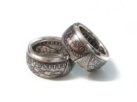 MORGAN DOLLAR Coin Ring Mens Silver Ring One Dollar