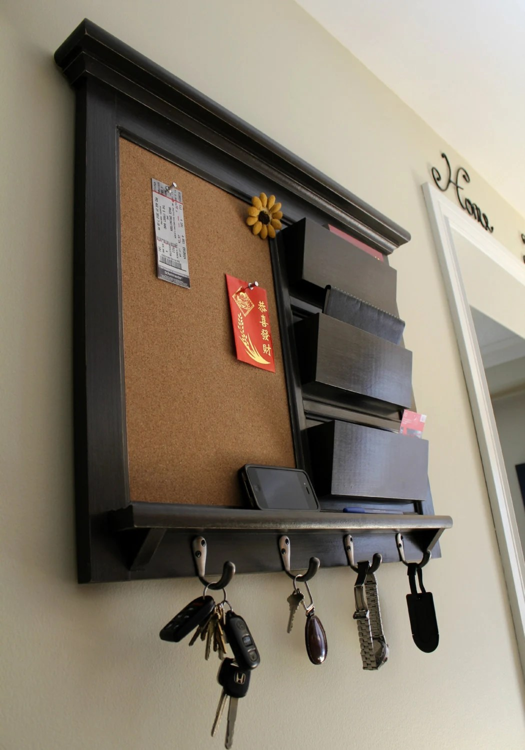 Hanging Mail And Key Organizer Office Organizer Home Decor Mail Organizer Family Planner