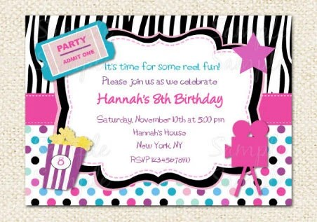 birthday movie invitations - Intoanysearch