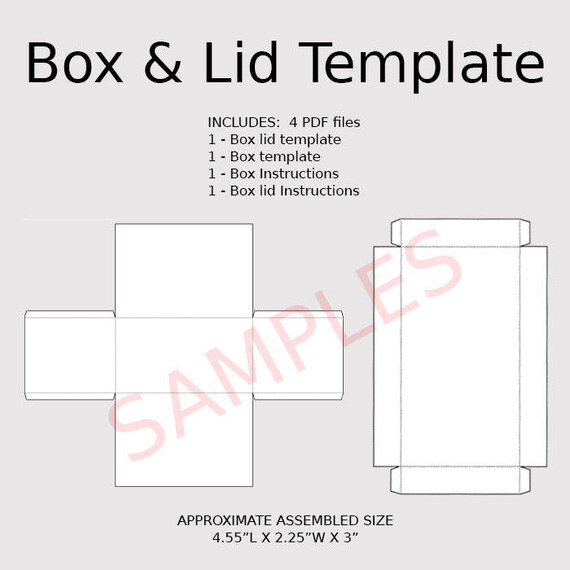 printable box template with lid - Canasbergdorfbib