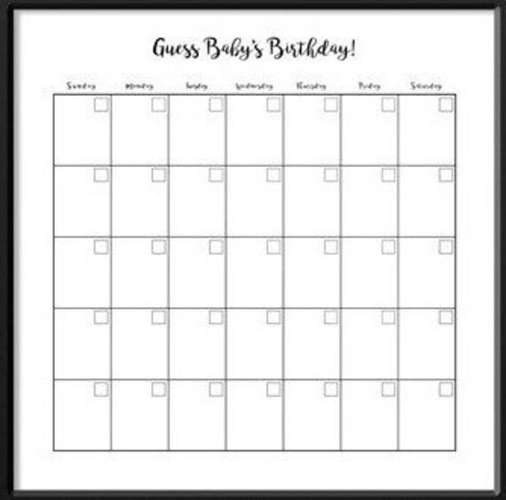 blank birthday calendar - Apmayssconstruction