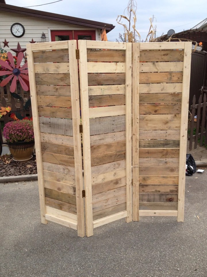 Handmade Primitive Room Divider Movable Wall Screen Made