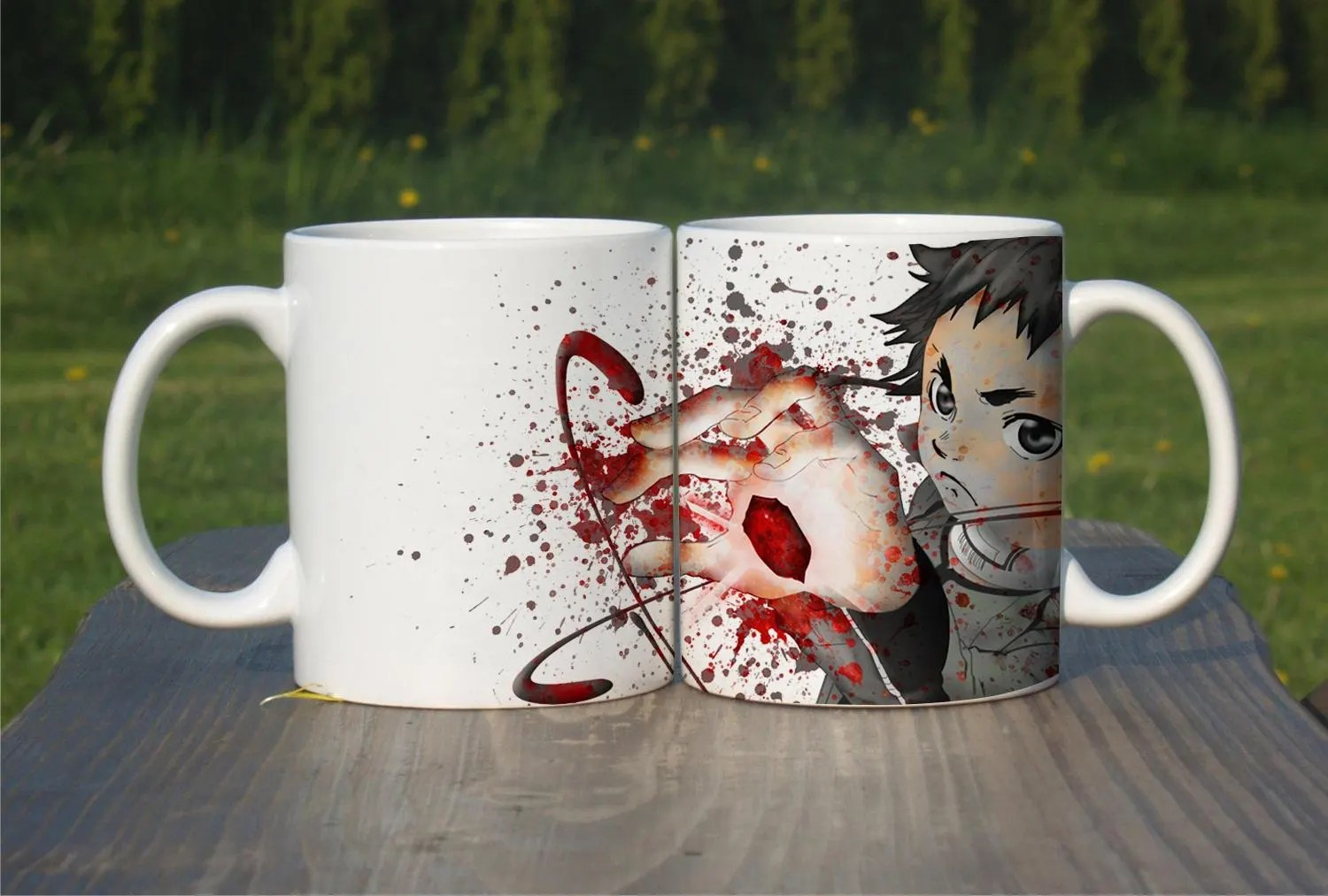 Highschool Dxd Bettwäsche Deadman Wonderland Inspired Coffee Mug Shiro Tea Cup Color Changing Heat Magic Mug Unique Design Gift Ceramic 11oz Watercolor M256