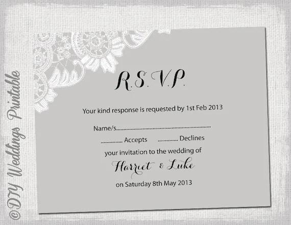 wedding response cards templates free - Maggilocustdesign
