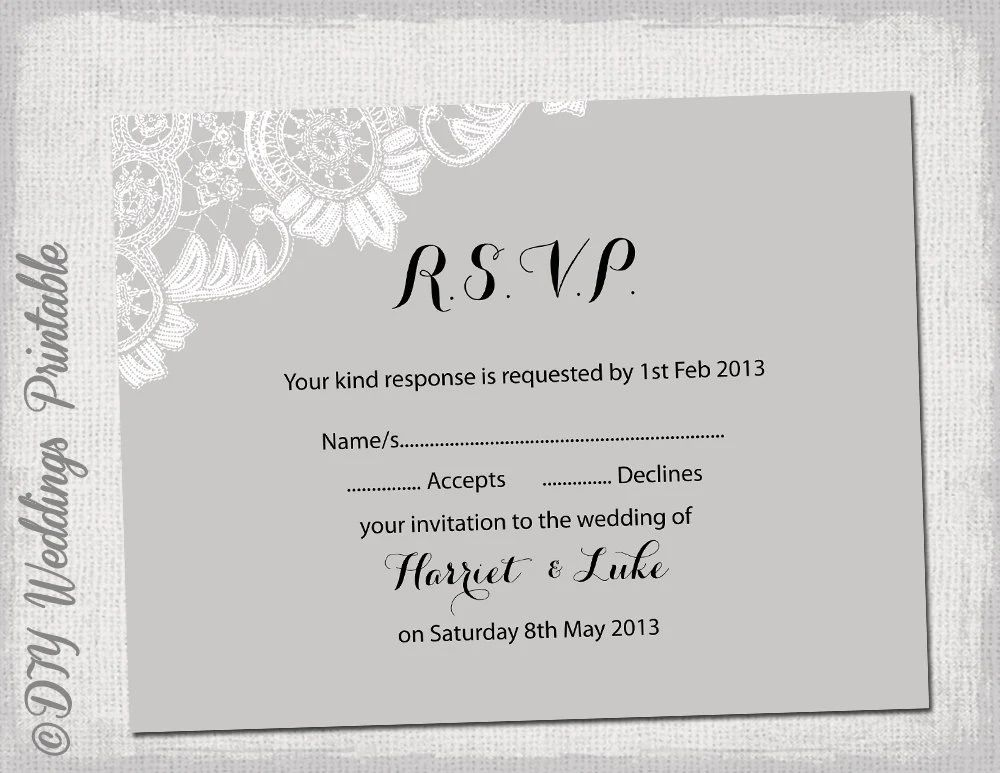 sample wedding rsvp card wording