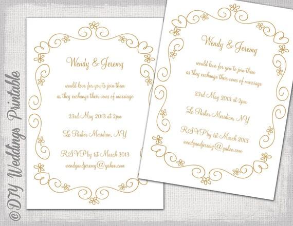 invitaciones de bodas para editar - Leonescapers