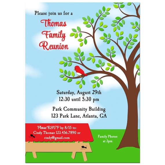 free printable family reunion invitations - Yelommyphonecompany
