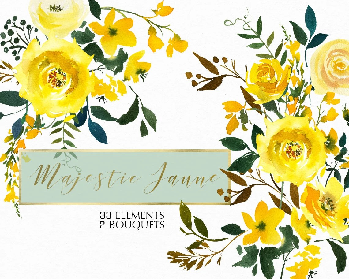 Orange Fall Peonies Wallpaper Yellow Watercolor Flowers Roses Clipart Set Wedding Floral