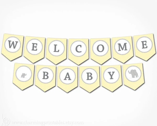 free printable baby banner - Towerssconstruction