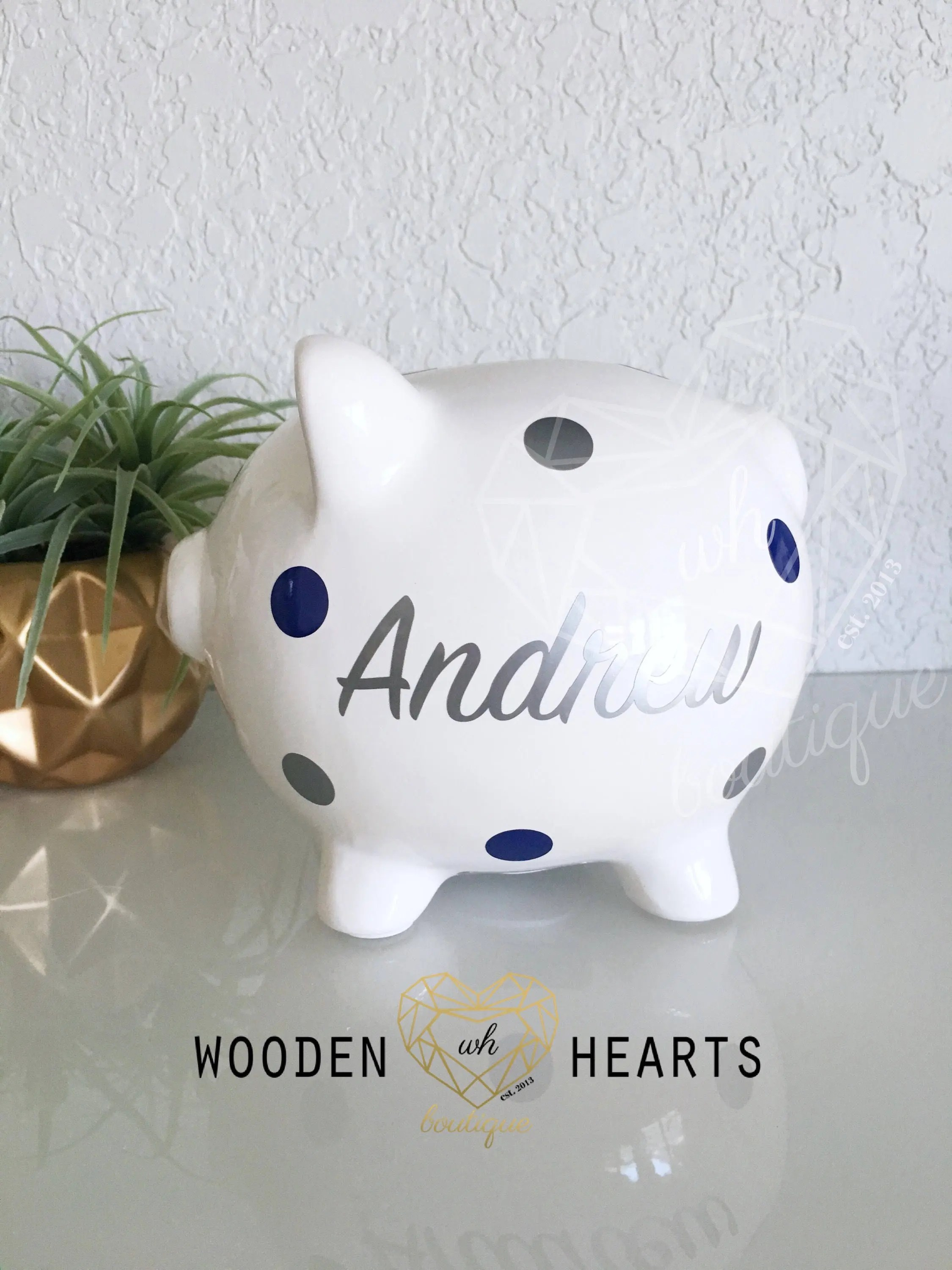 Silver Piggy Bank For Baby Large Silver Name Personalized Piggy Bank Custom Bank First