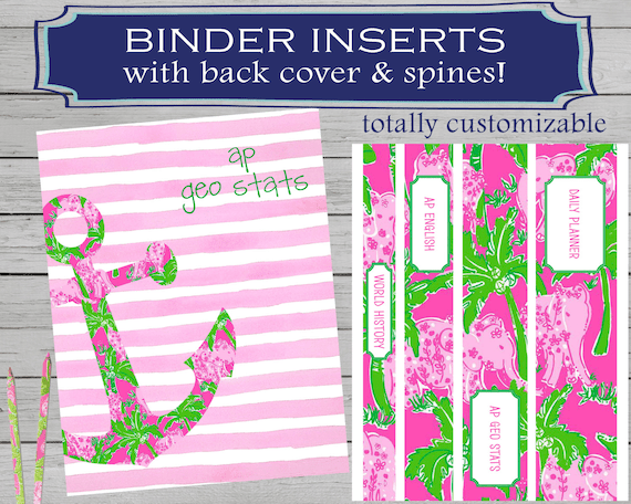 printable monogram binder cover - Eczasolinf - english binder cover
