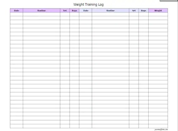 printable weight lifting logs - Goalgoodwinmetals - printable workout sheet