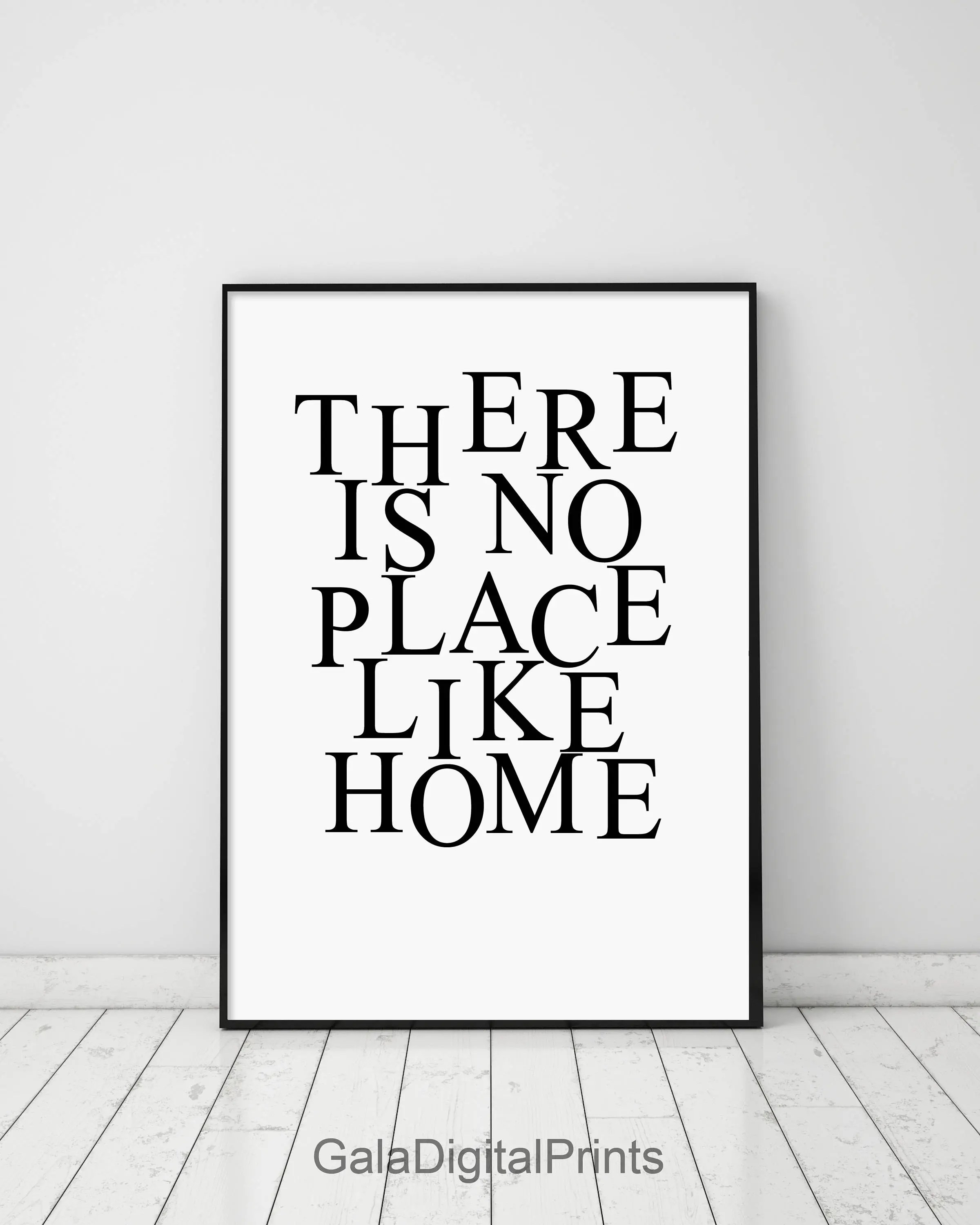 Affiche Scandinave Home There Is No Place Like Home Modern Typography Print Minimalist Poster Scandinavian Wall Art Affiche Scandinave Black And White Print