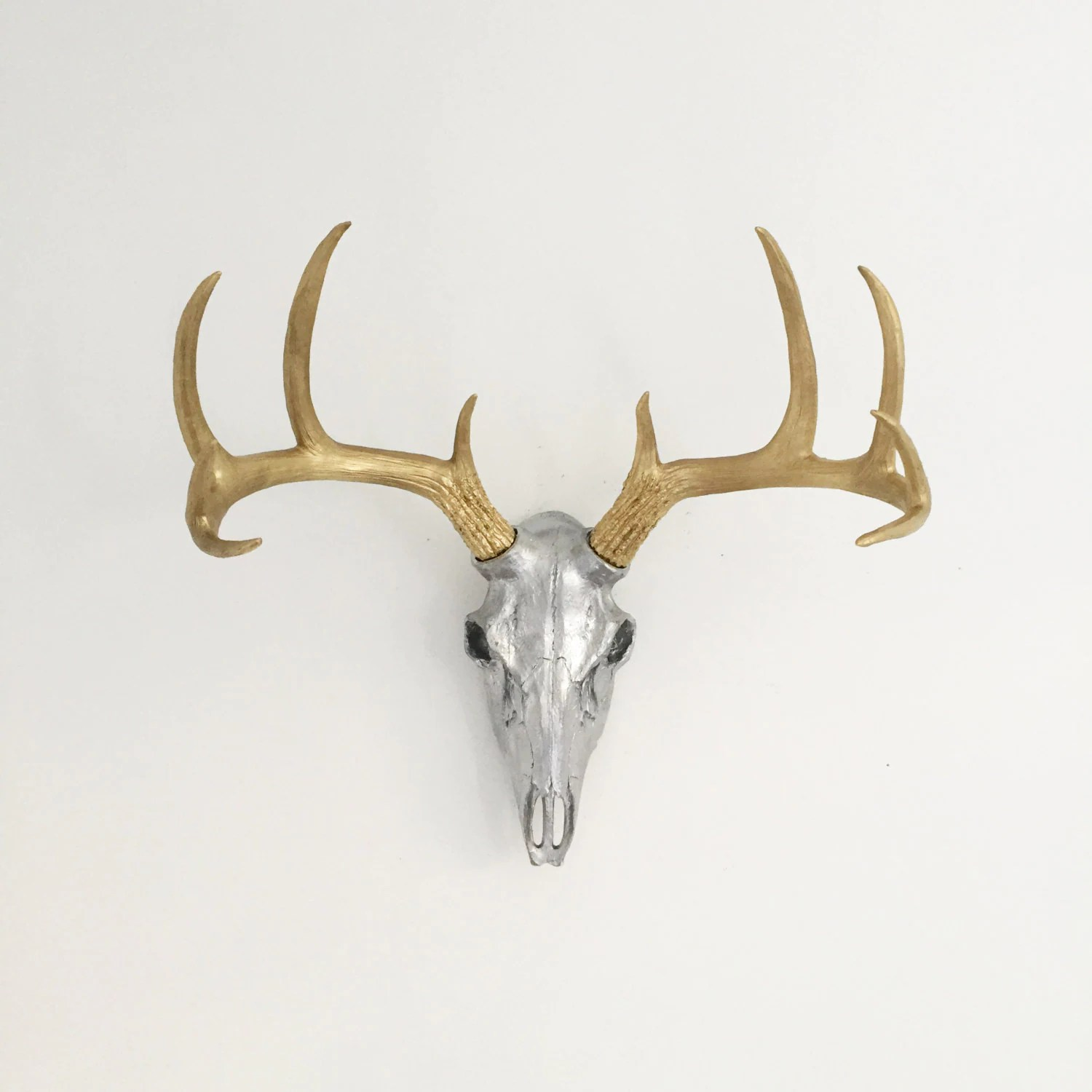 Fake Deer Skull And Antlers Any Color Fake Deer Skull Wall Mount Faux Taxidermy