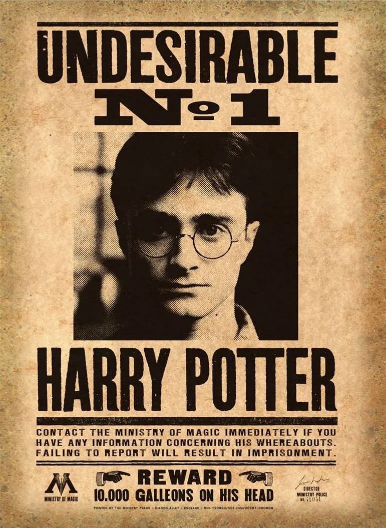 Enemy Wallpaper Quotes Harry Potter Printable Mega Pack Wanted Posters Daily