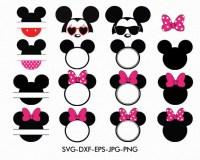 Mickey Svg Minnie Ears Monogram Frame Minnie Bow Disney
