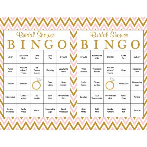 Medium Crop Of Bridal Shower Bingo