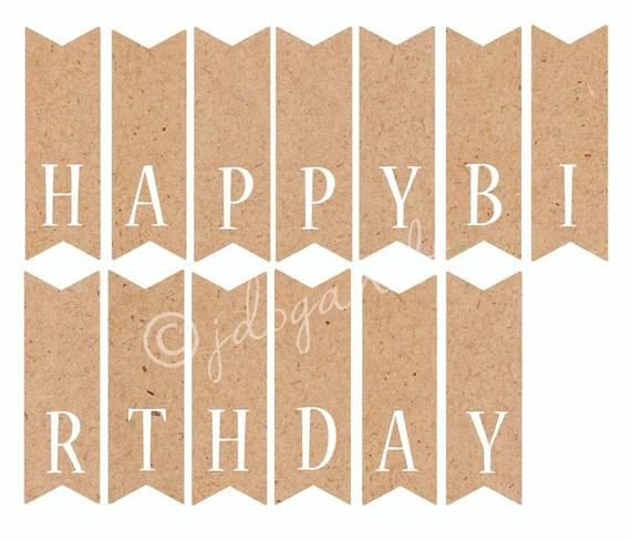 printable happy birthday banner letters - Alannoscrapleftbehind